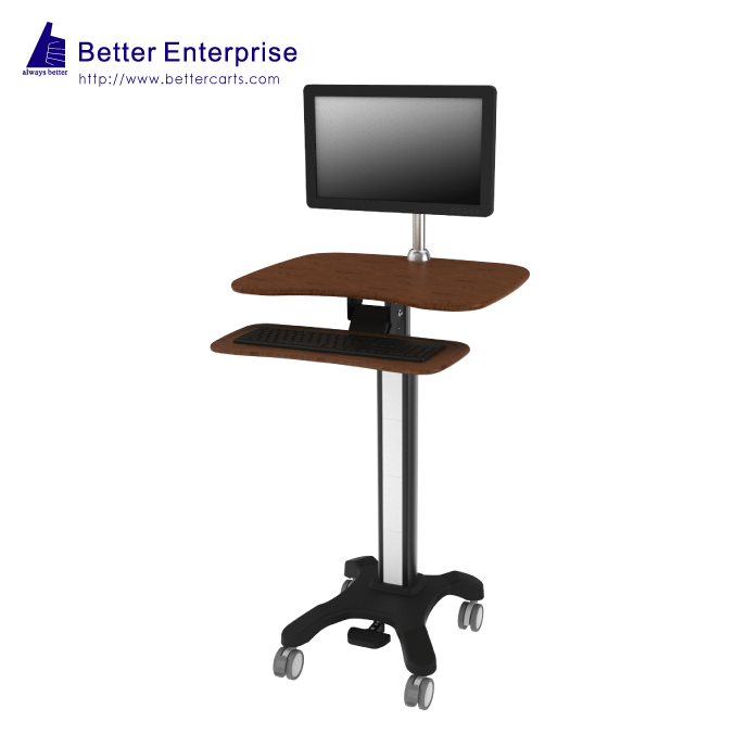 Height Adjustable Light Duty Computer Cart (with Light-weighted Keyboard)