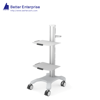 Mobile Equipment Cart with 2 Shelves