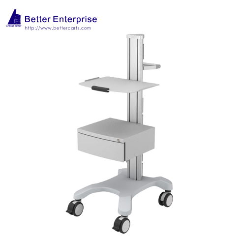 Mobile Equipment Cart with 1 Shelf and Large Storage Drawer