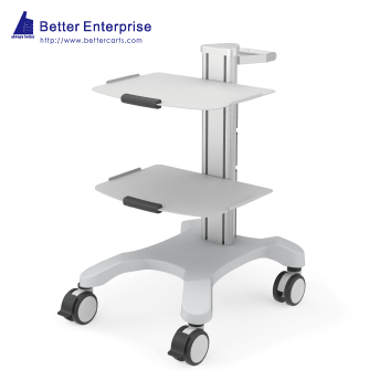 Mobile Equipment Cart Mini with 2 Shelves