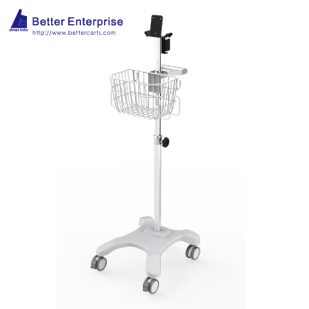 Vital Signs Monitor Roll Stand (4-Leg Base)