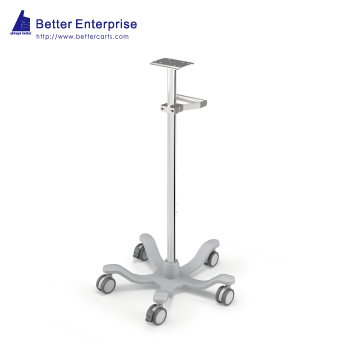 "Fixed Height Medical Roll Stand with Grip Handle (24"" Base)"