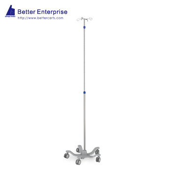 Telescoping IV Stand (One-Hand-Adjustment)