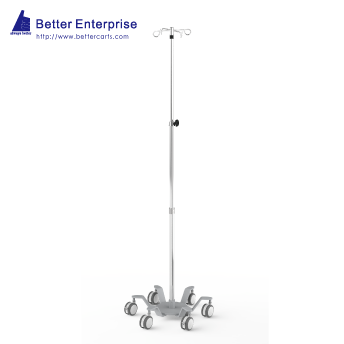 "3-Section Heavy Duty Infusion Pump Stand (25.4"" Base)"