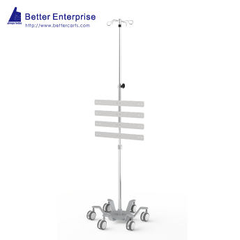 Heavy Duty Infusion Pump Stand with Medical Rails