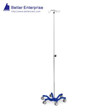 "Heavy Duty Telescoping IV Stand (24.5"" Cast Iron Base)"