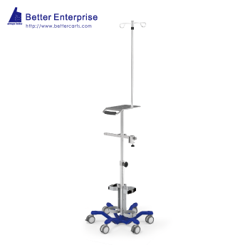 Ventilator Cart with IV Pole and Device Support Tray (Heavy Duty)