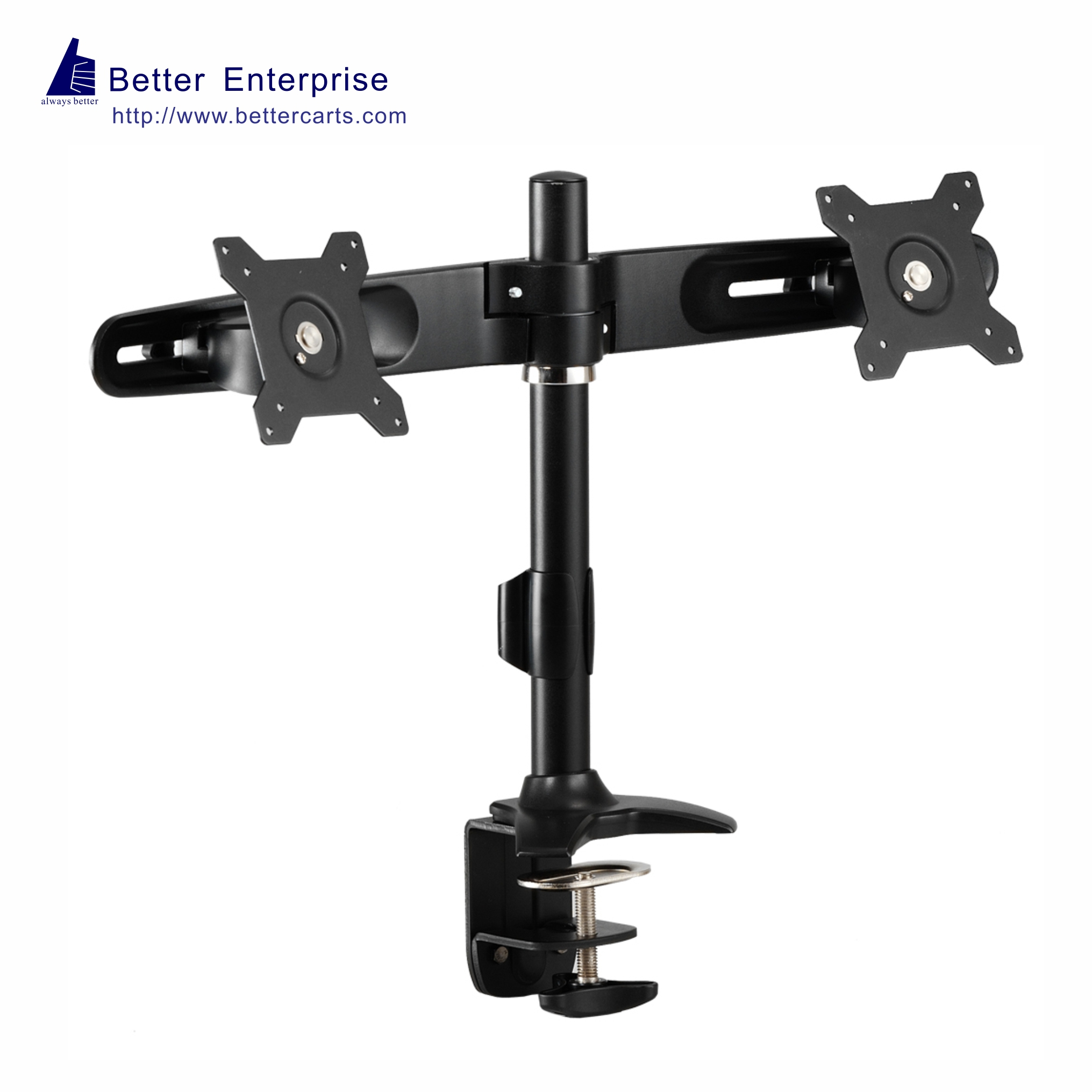 Desk Mount Dual Monitor Pole Stand Desk Clamp Desk
