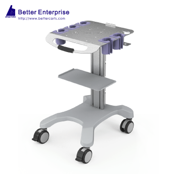 Ultrasound Cart (Fixed Height with 5 Probe Holders)
