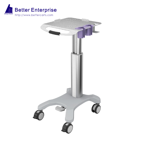 Height Adjustable Ultrasound Cart with 2 Probe Holders