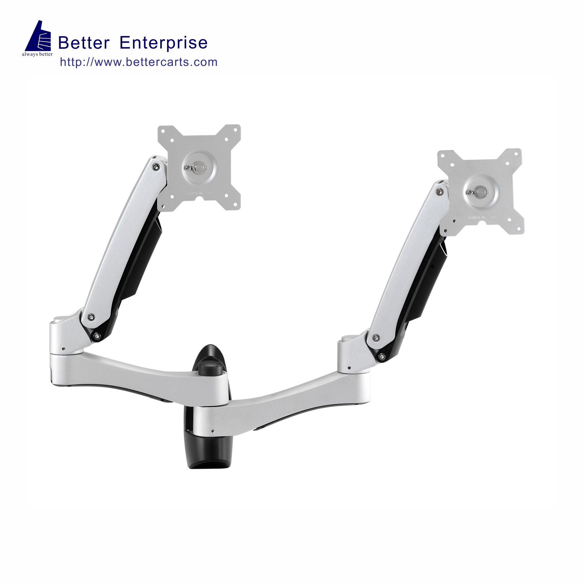 Wall Mount LCD Monitor Duo Arm, Wall Mount LCD Monitor Duo